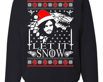 more colors let it snow jon snow ugly christmas sweater