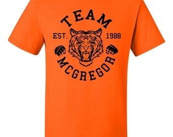 f1288e44 Team Mcgregor Tiger Conor Mcgregor T Shirt