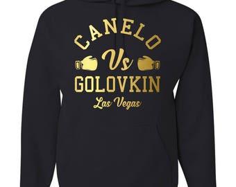 b52009412c5db5 Canelo vs GGG Boxing Fight Las Vegas Hooded Sweatshirt