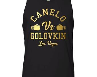 9bc8828b40bc45 Canelo vs GGG Boxing Fight Las Vegas Men s Tank Top