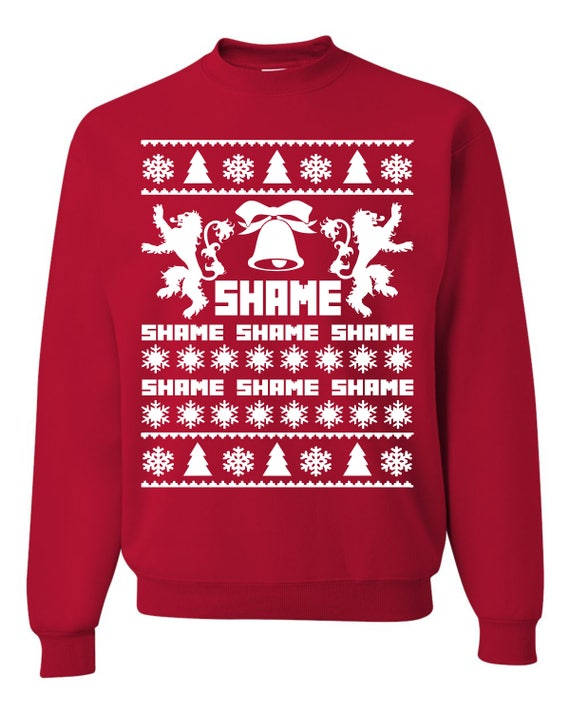 Game of Thrones Queen Cersei Walk of Shame Ugly Christmas Sweater Unisex