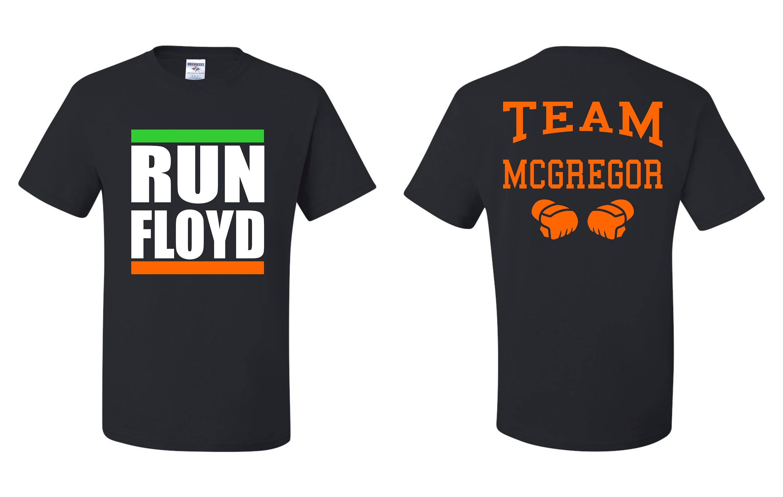 Team Mcgregor Lauf Floyd Conor Mcgregor T Shirt Vorne Und Etsy