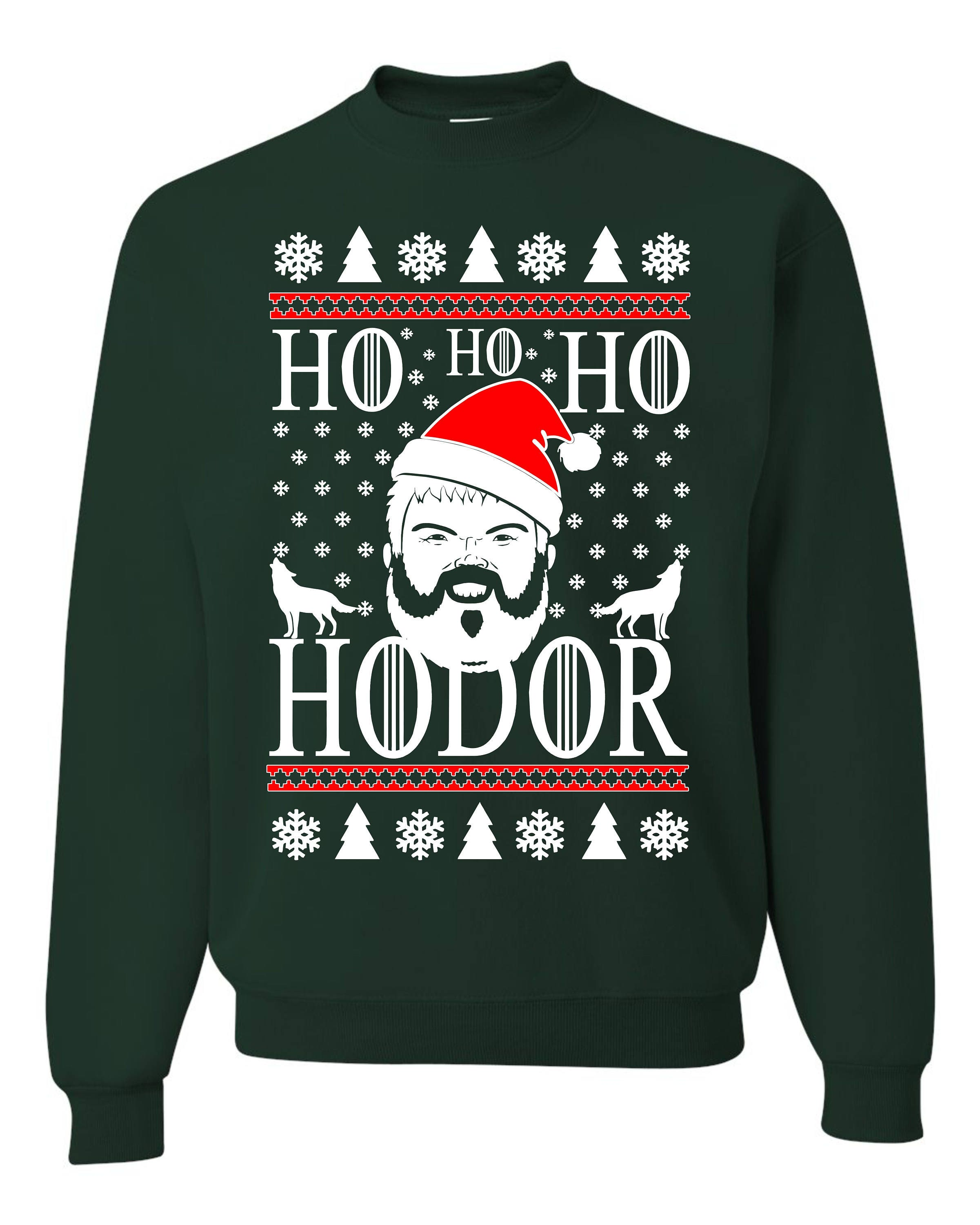 Gaming Kersttrui.Ho Ho Ho Hodor Game Of Thrones New Ugly Christmas Sweater Etsy