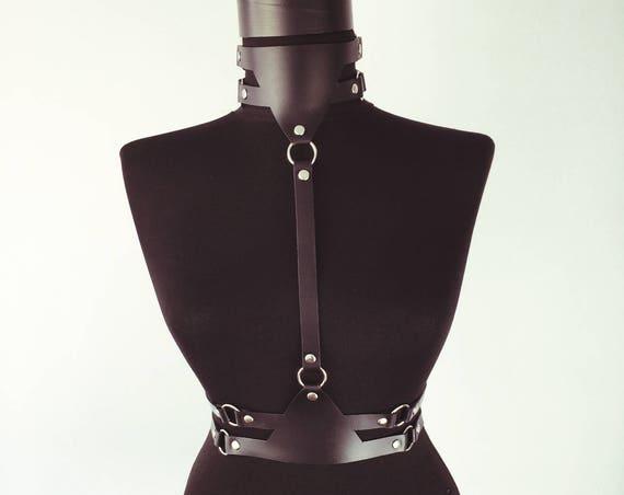 Erotic harness women,Body leather belt,Sexy leather choker,Harness belt gift,Lingerie sexy belt,Sexy open lingerie, Fashion carved sexy belt
