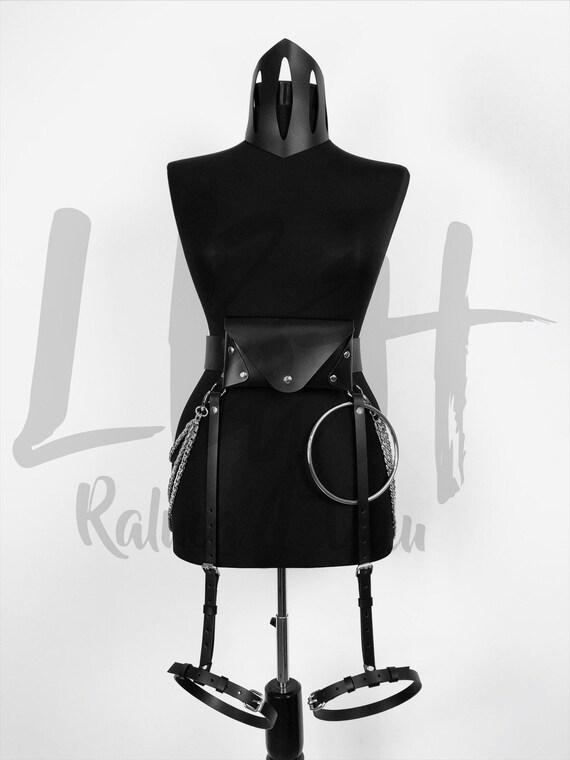 Leather Bumbag Belt with Garters, Hip Bag Belt, Holster Bag, Belt Bag, Fanny Pack, Waist Bag, Money Belt, Travel Belt, Festival Pouch Belt