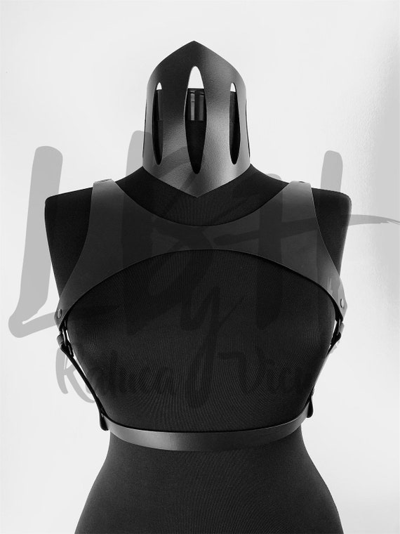 Chest Leather Harness,Body belt harness with chains,Harness gift women bra, Waist Belt Harness gift,Harness leather lingerie, Designer Gift