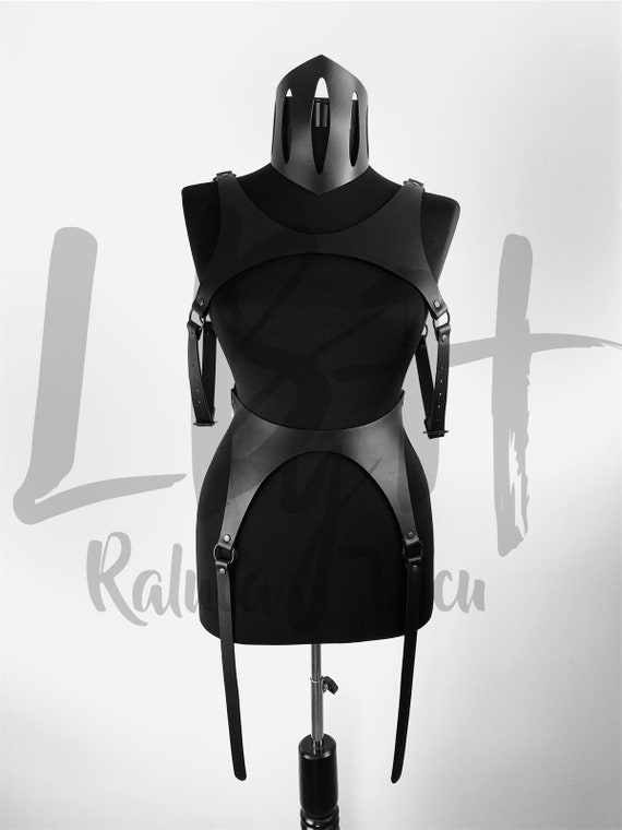 Full Body Cage, Leather Dress, Leather Harness, Body Harness, Chest Harness, Leather Top, Leather Accessories, Leather Fashion Gift for Her