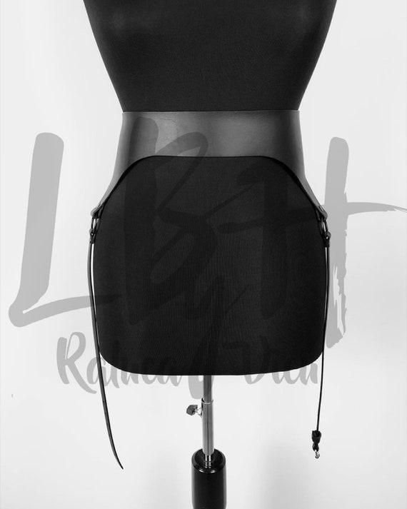 Women Leather Waist Belt with Garter Belt,Stockings Garter belt lingerie ,Waist to thigh harness,Leg harness,Garters for stockings gift