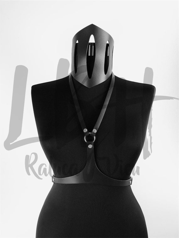 Leather Waist Belt, Chest Harness, Bra Harness, Woman Leather Harness, Body Harness, Leather Top, Waist Belt, Leather Accessories Gift Her