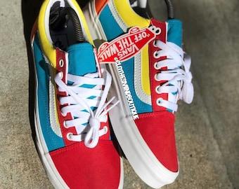a3d2b0c6c09 Custom Old Skool Colorful Neon Candy Colorway Vans