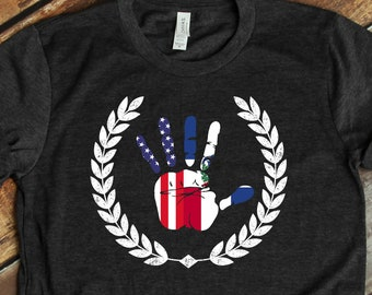 Dominican American Apparel  Dominican Republic Flag  American Flag  DR Heritage  DR Shirt  American  Tank-Top  Hoodie  Gift For DR