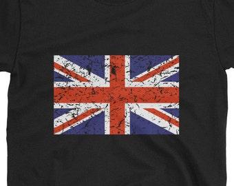 Union Jack Tshirt, Union Jack Flag, British Tshirt