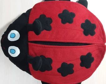 Baby pillow gift Play pillow Ladybug play cushion Ladybird toy Miraculous ladybug toy Toy from cartoon Insect toy Bug toy Bug pillow