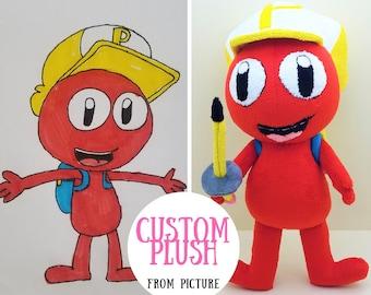 4546ac63a536 Custom plushie from child drawing Custom Custom Stuffed animal Drawings  into plush