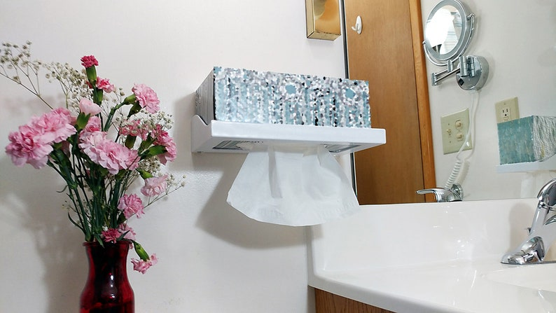 FLIP IT ™ Tissue Box Holder  Large and Small Wall Mounted image 0