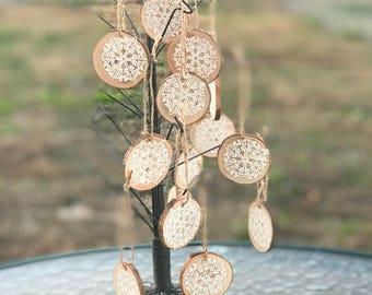 Rustic Snowflake Christmas Ornaments