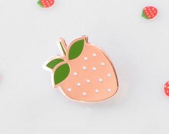 Cherries Enamel Lapel Pin // copper / cherries / cherry pin