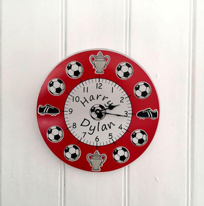 Personalised football clock Children\'s Wall Clock   Etsy