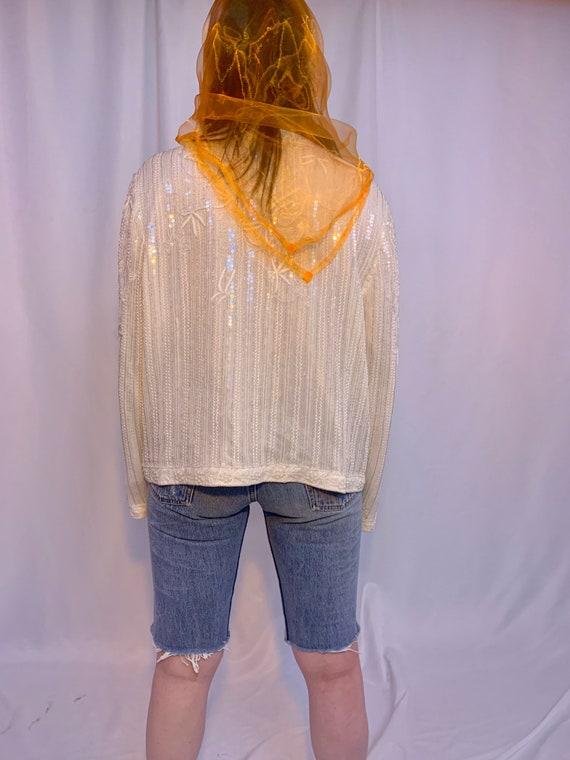 Silk beaded & sequin jacket - image 8