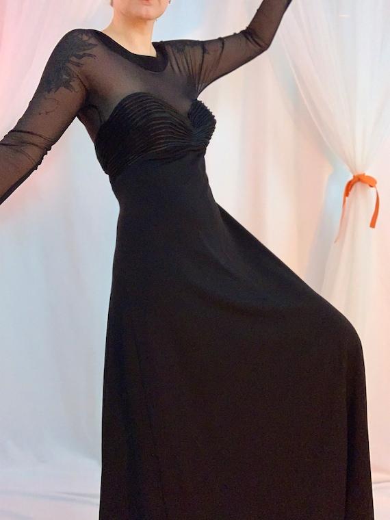 Sheer mesh bustier cocktail dress