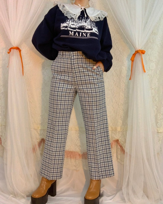 Plaid 70's Farrah golf pants