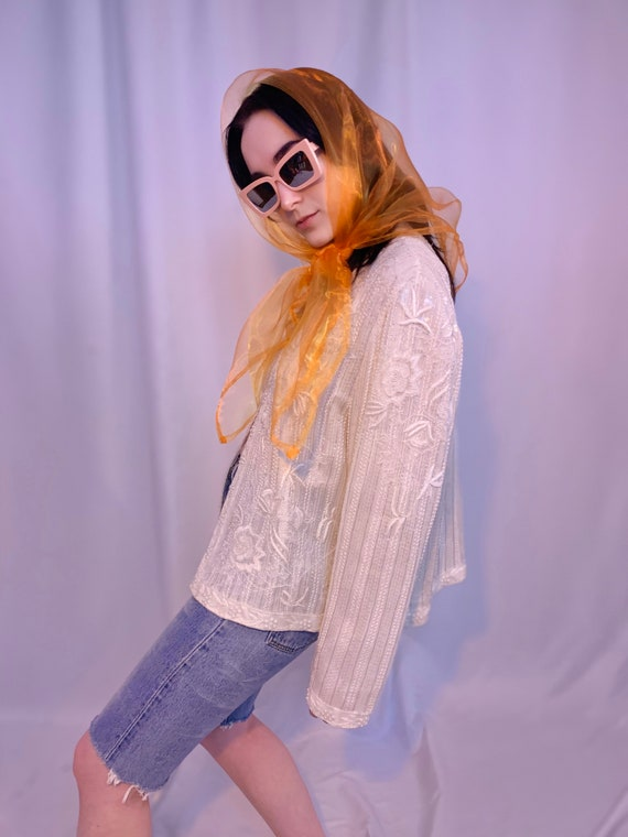 Silk beaded & sequin jacket - image 3