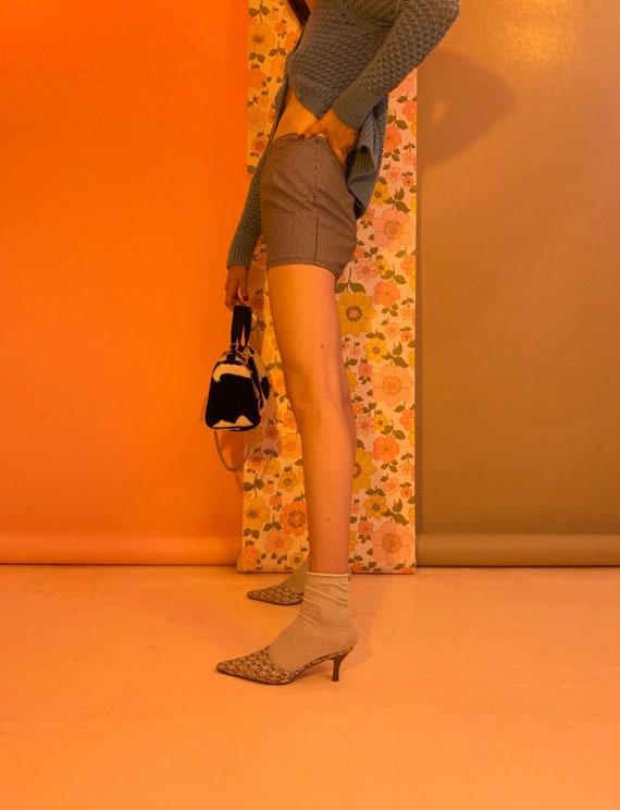 Houndstooth micro mini skirt - image 8