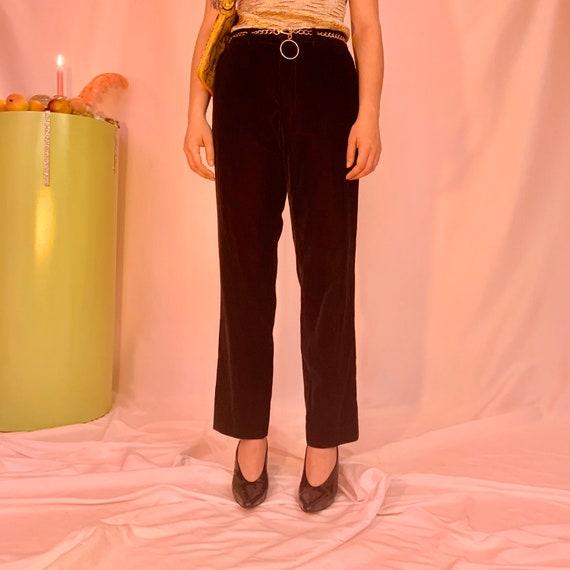 Velvet men's high waisted pants