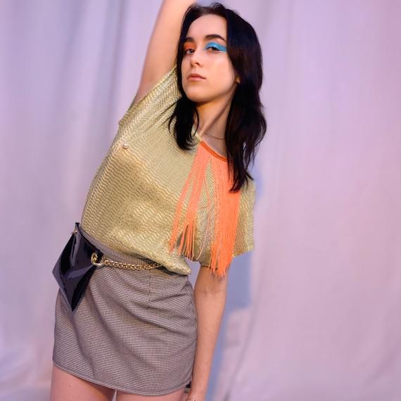 Houndstooth micro mini skirt - image 1