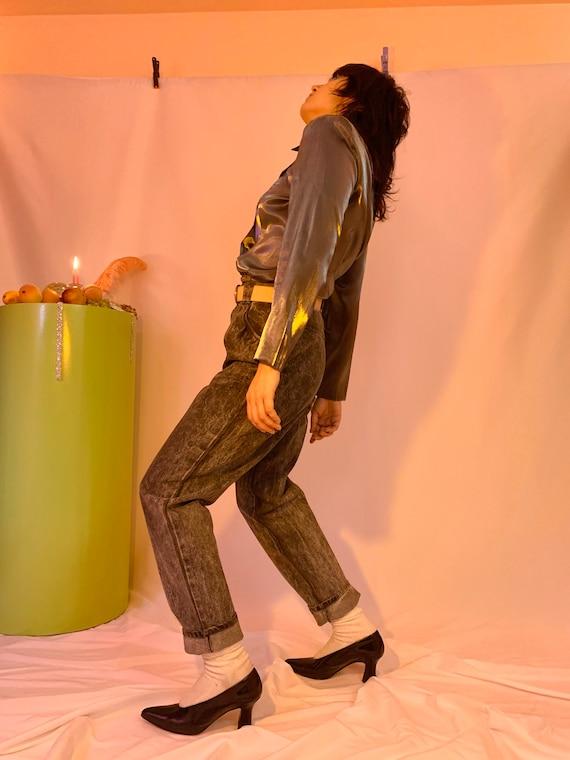 Shiny liquid shirt jacket - image 3