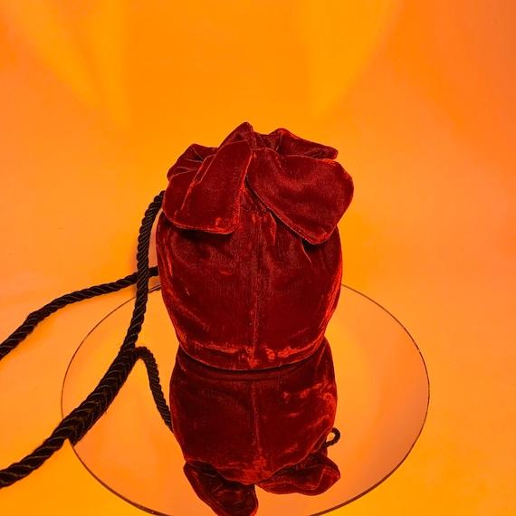 Crushed cranberry velvet mini bag