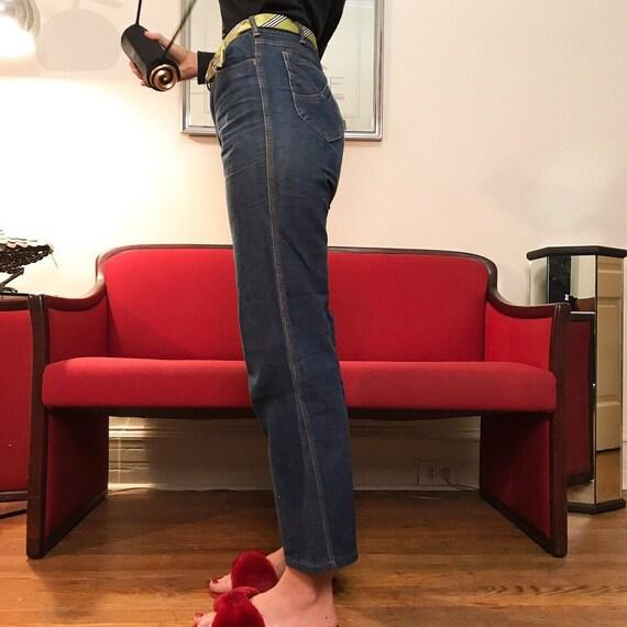 Contrast stitch cropped jeans, by French denim bra