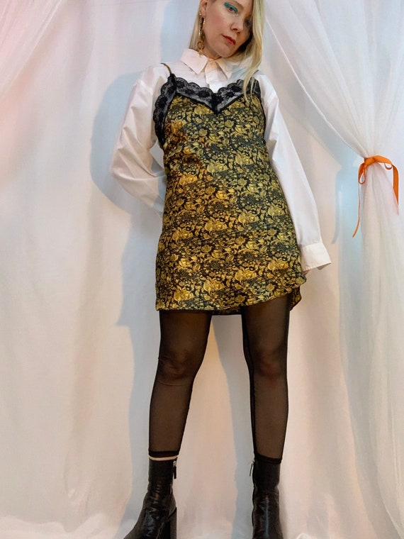 Satin sweetheart mini slip dress
