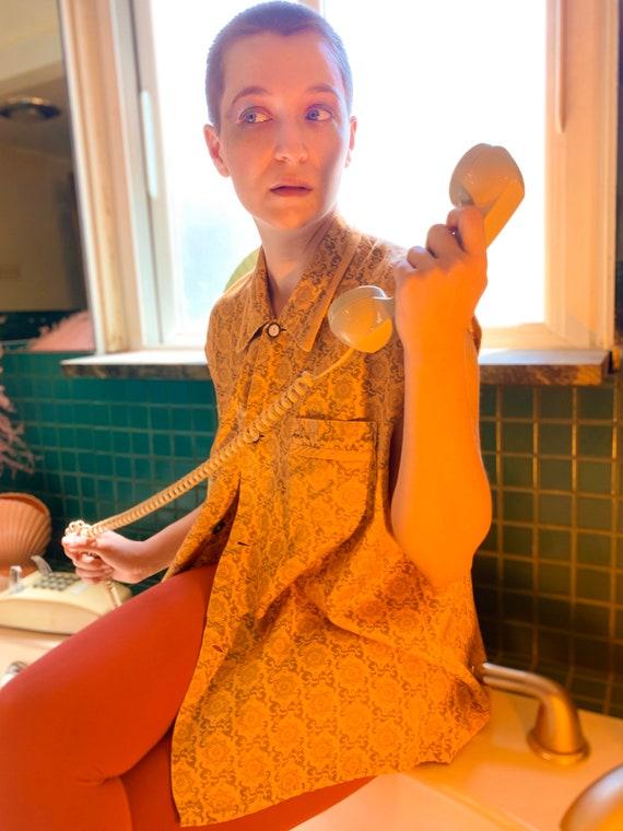 Boudoir smoking lounge pajama shirt - image 2