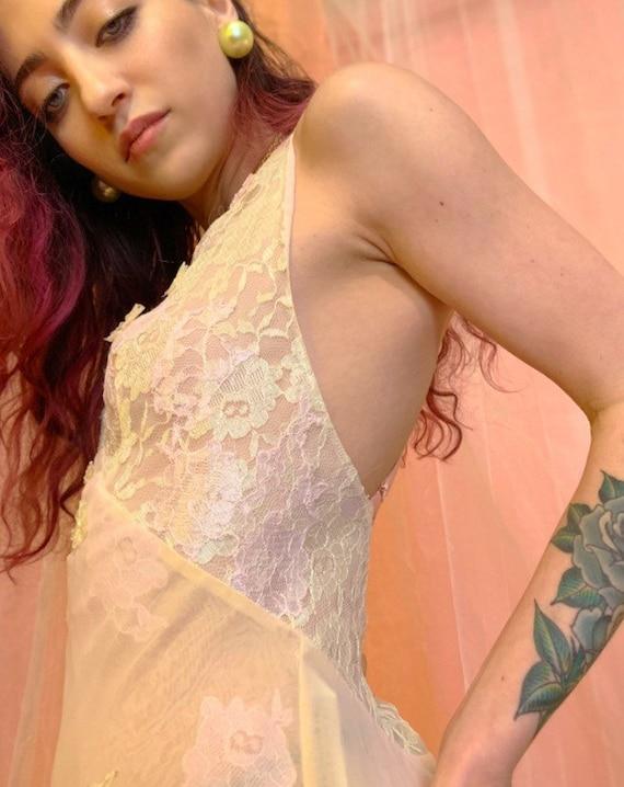 Sheer pastel slip dress