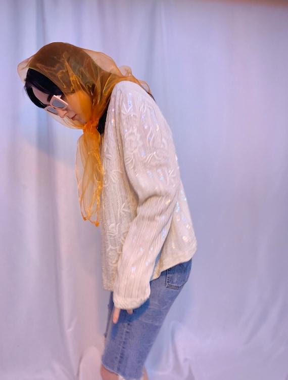 Silk beaded & sequin jacket - image 4