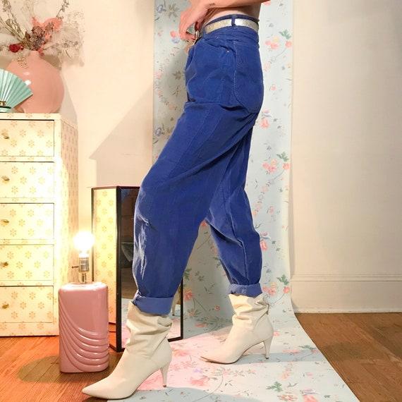 Pleated corduroy pants