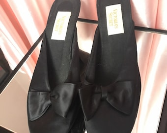 Victorias Secret satin bow mules 9
