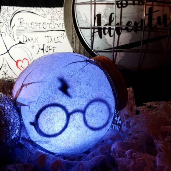 Harry Potter Lamp Harry Potter Glass Jar Light Etsy