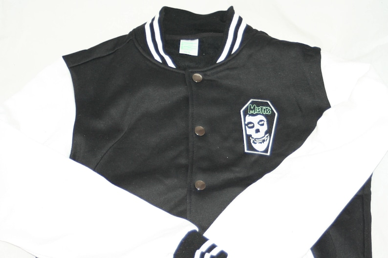 5fba990e4bd0e Misfits Iron-on Patched Varsity Jacket