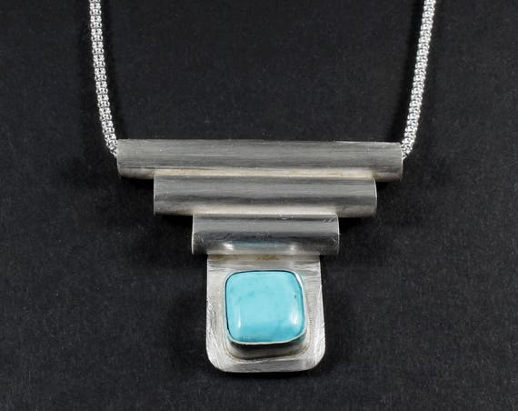 Tubed Turquoise Necklace