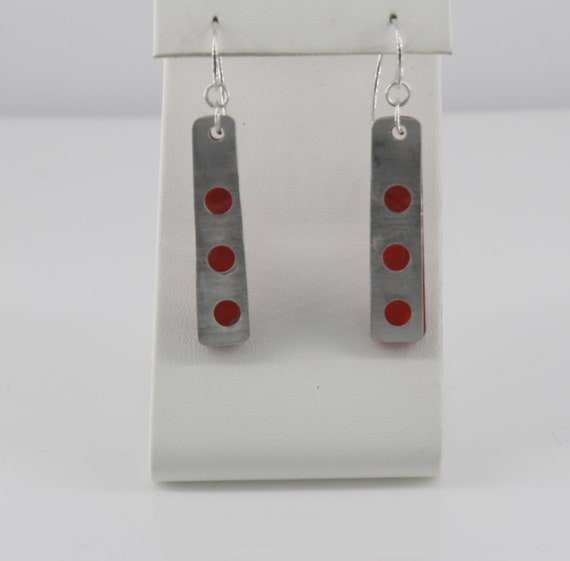 Red Dot Earrings