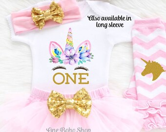 Unicorn First Birthday Outfit, First Birthday Outfit Girl, 1st Birthday Girl Outfit, Unicorn Themed Birthday, Unicorn Birthday Shirt U2LP