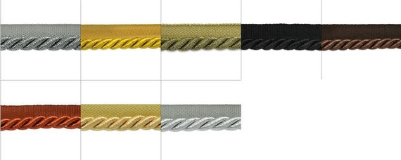 Nicholas Twisted Lip Cord Trim Metallic Gold 3//8 20 yd Expo International Inc