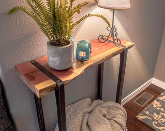 The Perfect Live Edge Entry Table