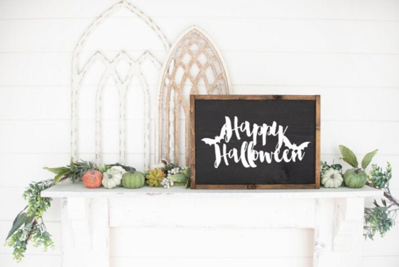 Happy Halloween wood sign  Fall decor  Halloween decor  image 0