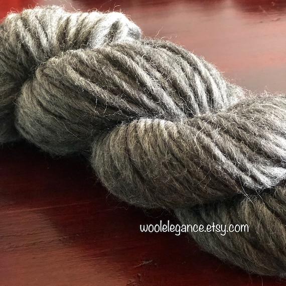 1 kg Natural Dark GREY* Single Spun 100/% Pure Wool Yarn in Hanks