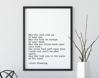 Irish blessing etsy irish blessing literary print may the road rise up to meet you literary decor printable literary art irish blessing in typewriter font m4hsunfo