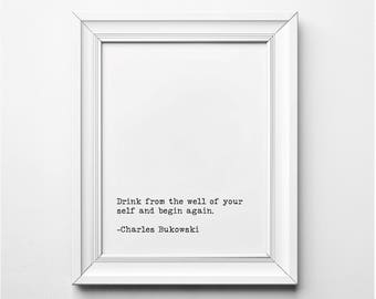 Gs Of Wrath Quotes | Charles Bukowski Literary Print I Will Remember The Kisses Etsy