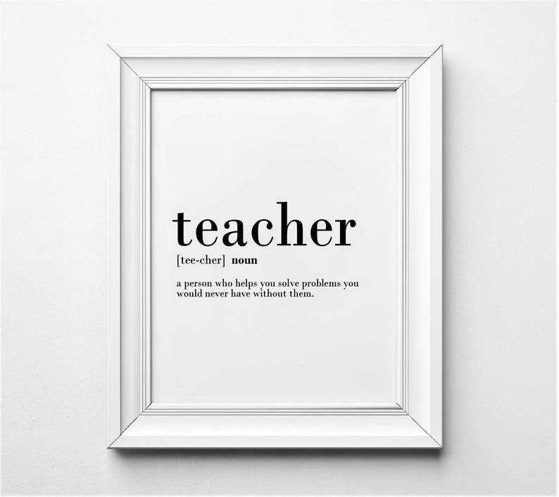 Lustige Lehrer Lehrer Geschenk Ideen Lehrer Definition Wand Etsy